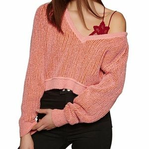Free People High Low V Neck Sweater Size Small